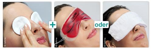 Waermebehandlung der Augenlider