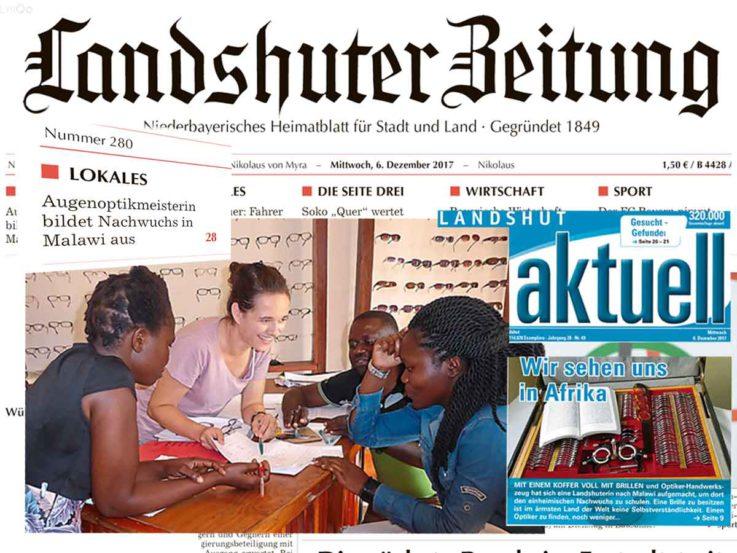 Frau Heimes in der lokalen Presse